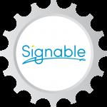 Signable logo
