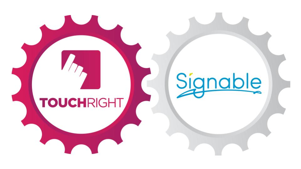TouchRight and Signable Logos